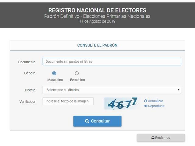 Elecciones 2019: ¿Dónde voto?
